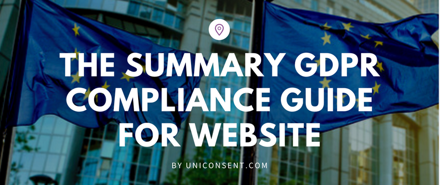 The summary GDPR compliance Guide for Website